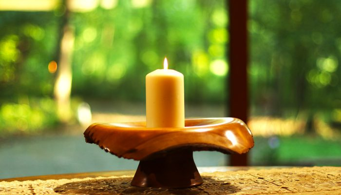 candle in chalice